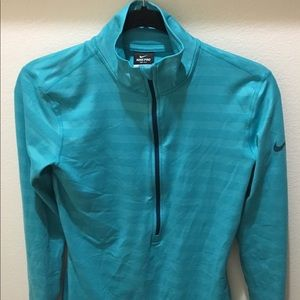 Nike Pro Dri Fit Athletic Blue Jacket Pullover